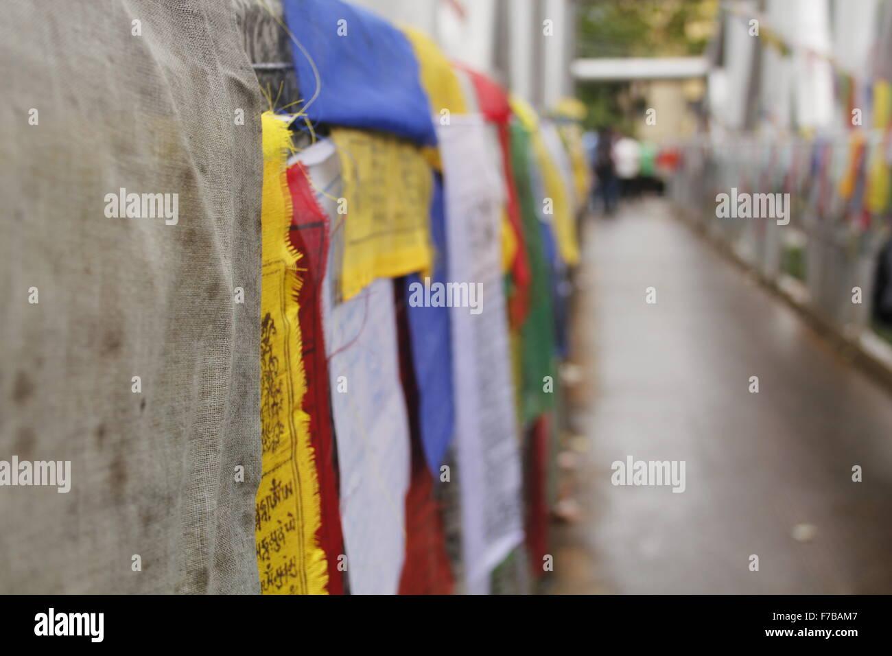 Prayer Flags-Bhutan - Stock Image
