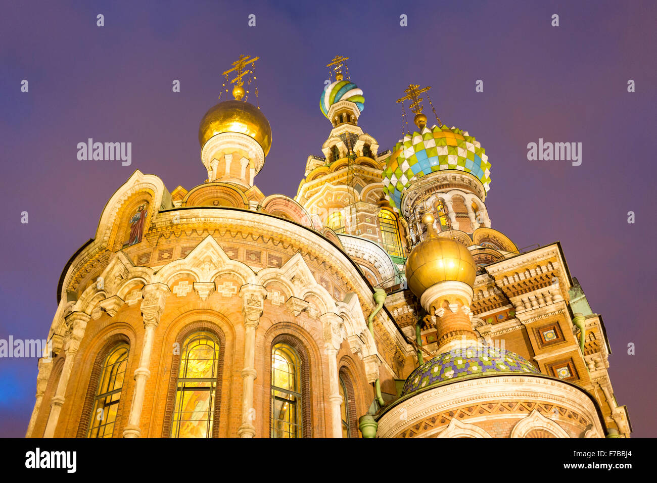 The Church of the Savior on Spilled Blood is one of the main sights of St. Petersburg, Russia. Other names include - Stock Image