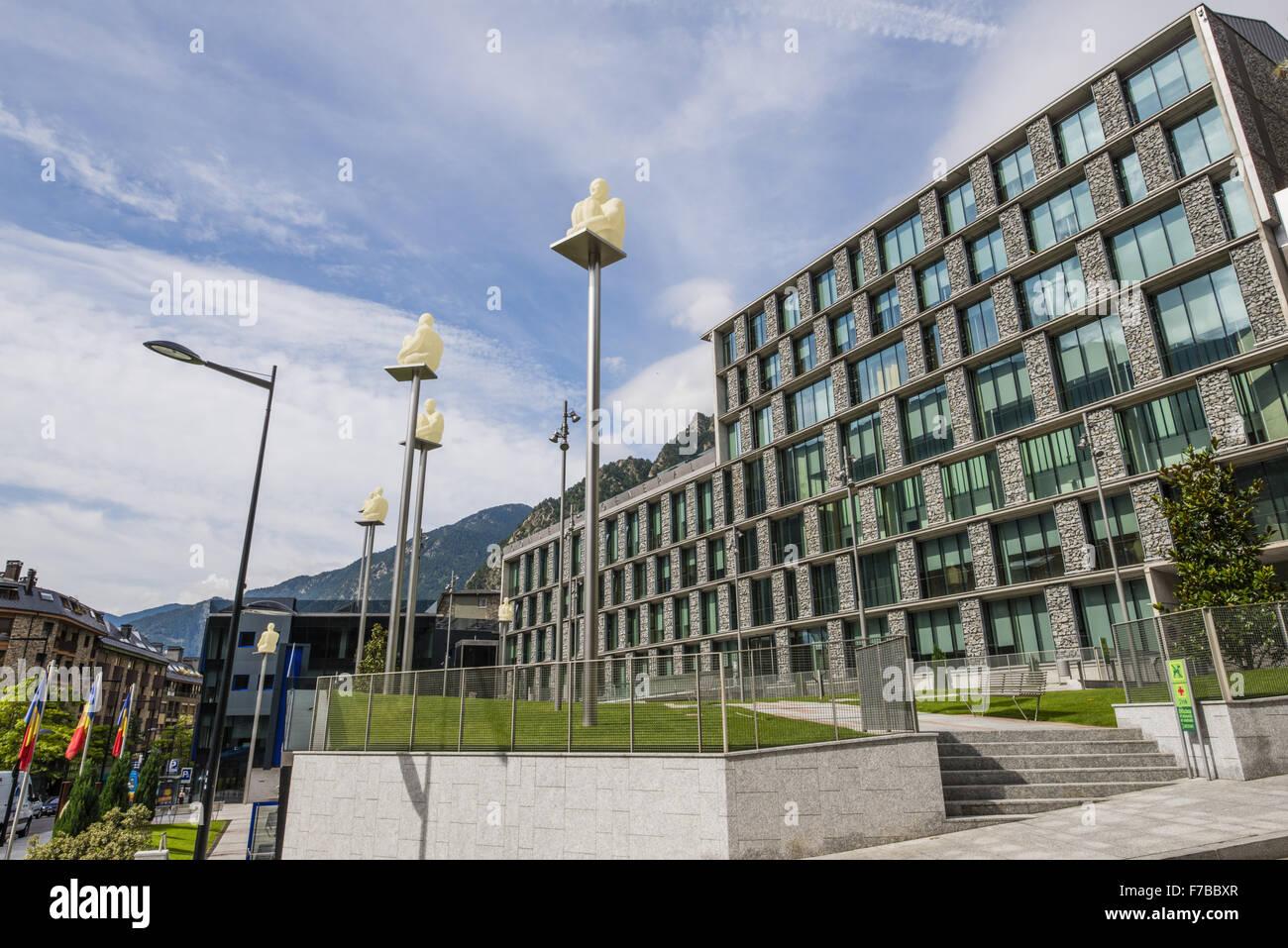 Consell General, Andorra la Vella, capital city of Andorra, Andorra - Stock Image