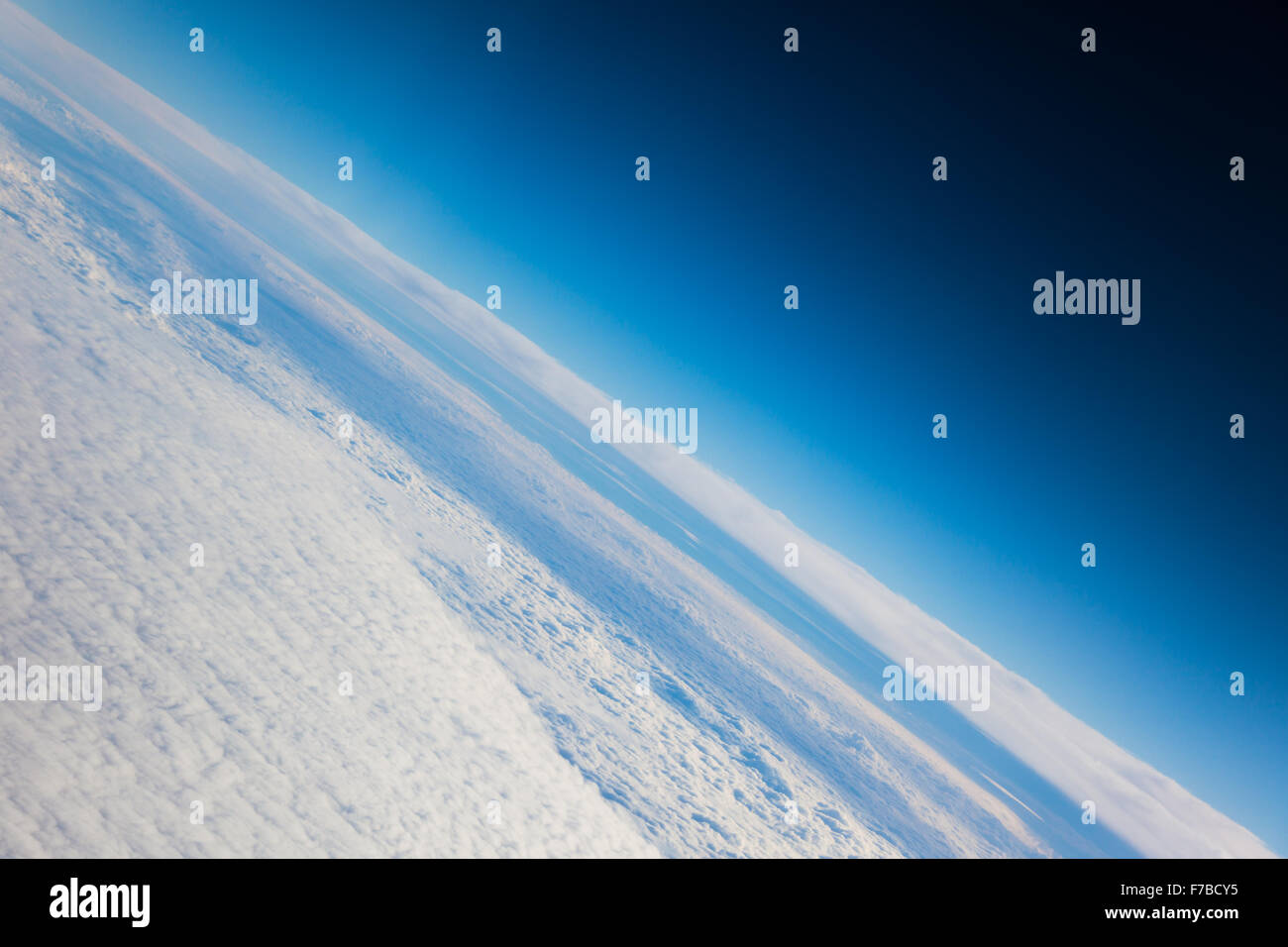Planet earth the blue planet close up view from the space - Stock Image