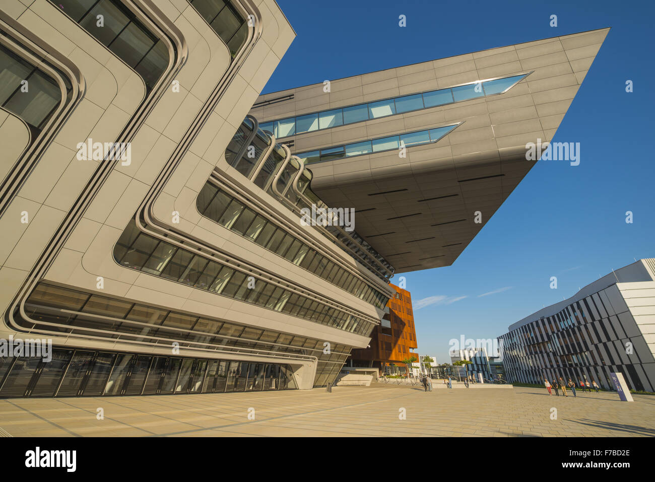 WU Campus Vienna, Vienna University of Economics and Business, LC, Library and Learning Center, Zaha Hadid, Austria, - Stock Image