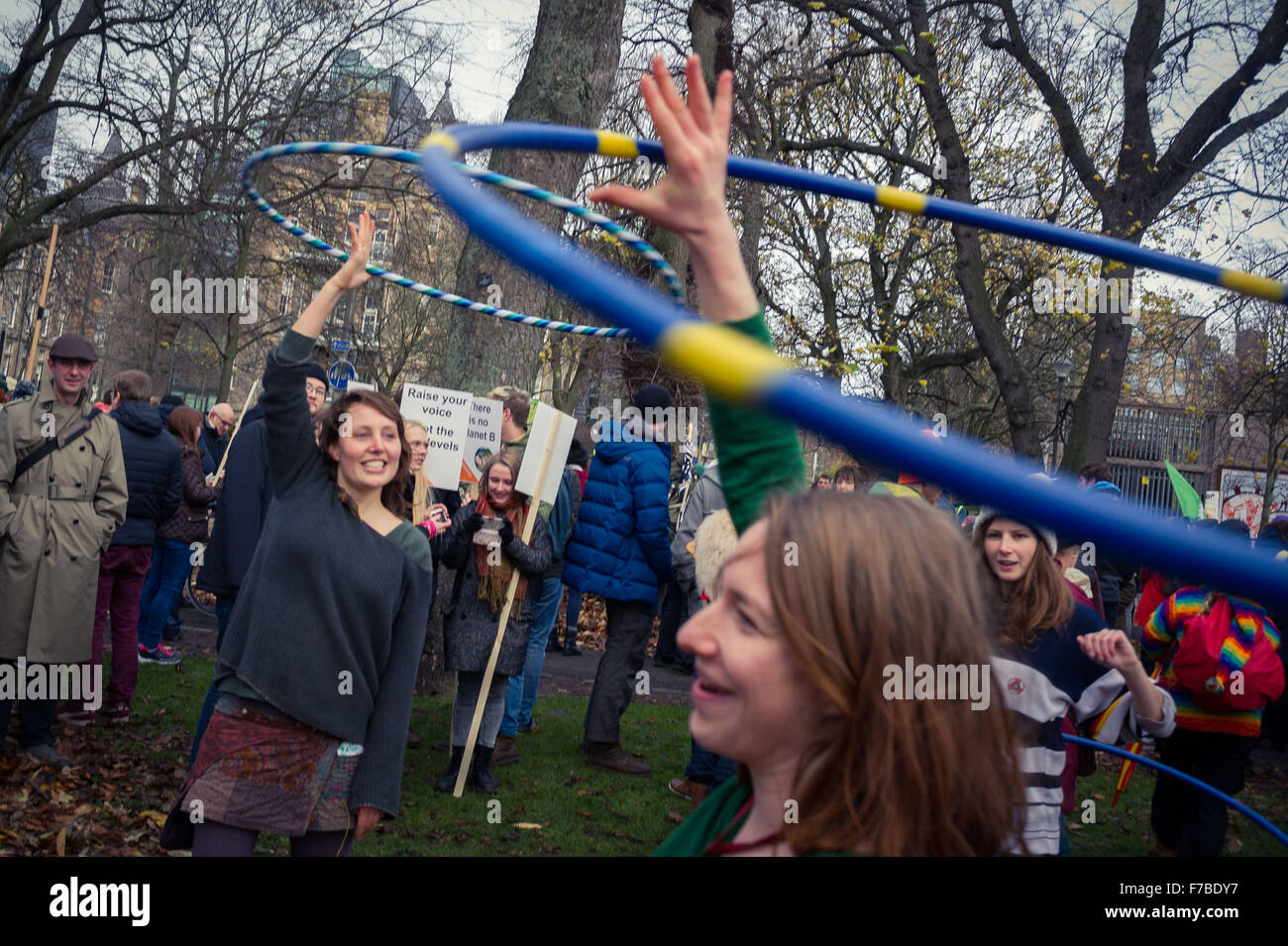 Edinburgh UK Nov 28 2015;  Thousands of protesters gather in the Meadows and march to Princes Street Gardens for - Stock Image
