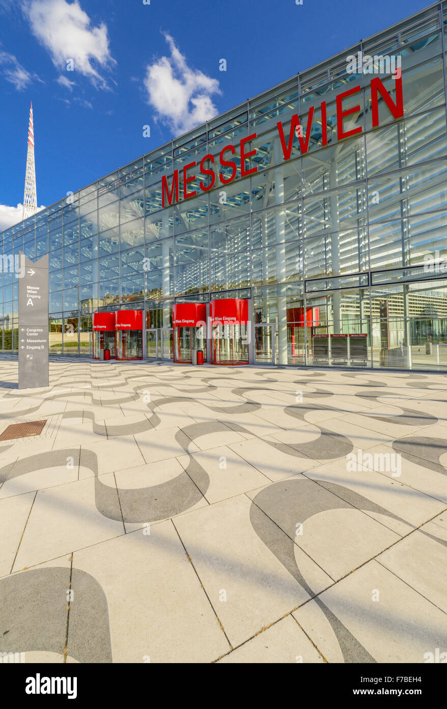 Reed Messe Wien, Vienna Fair, Vienna, Austria, 2. district, fair ground - Stock Image