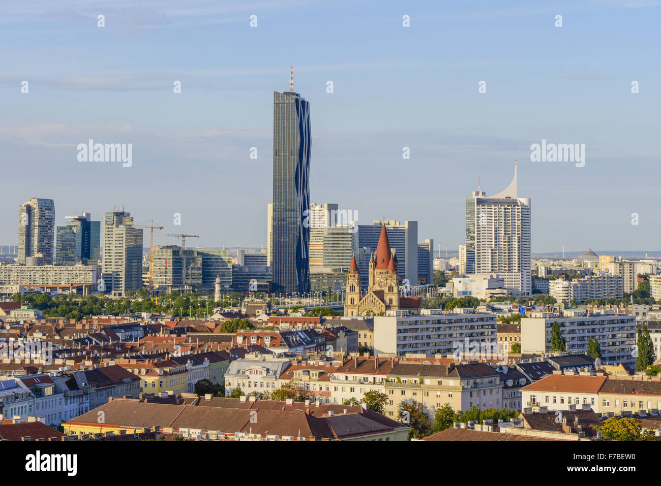 Danube City, Donaucity, DC Tower, Vienna, Austria Stock Photo