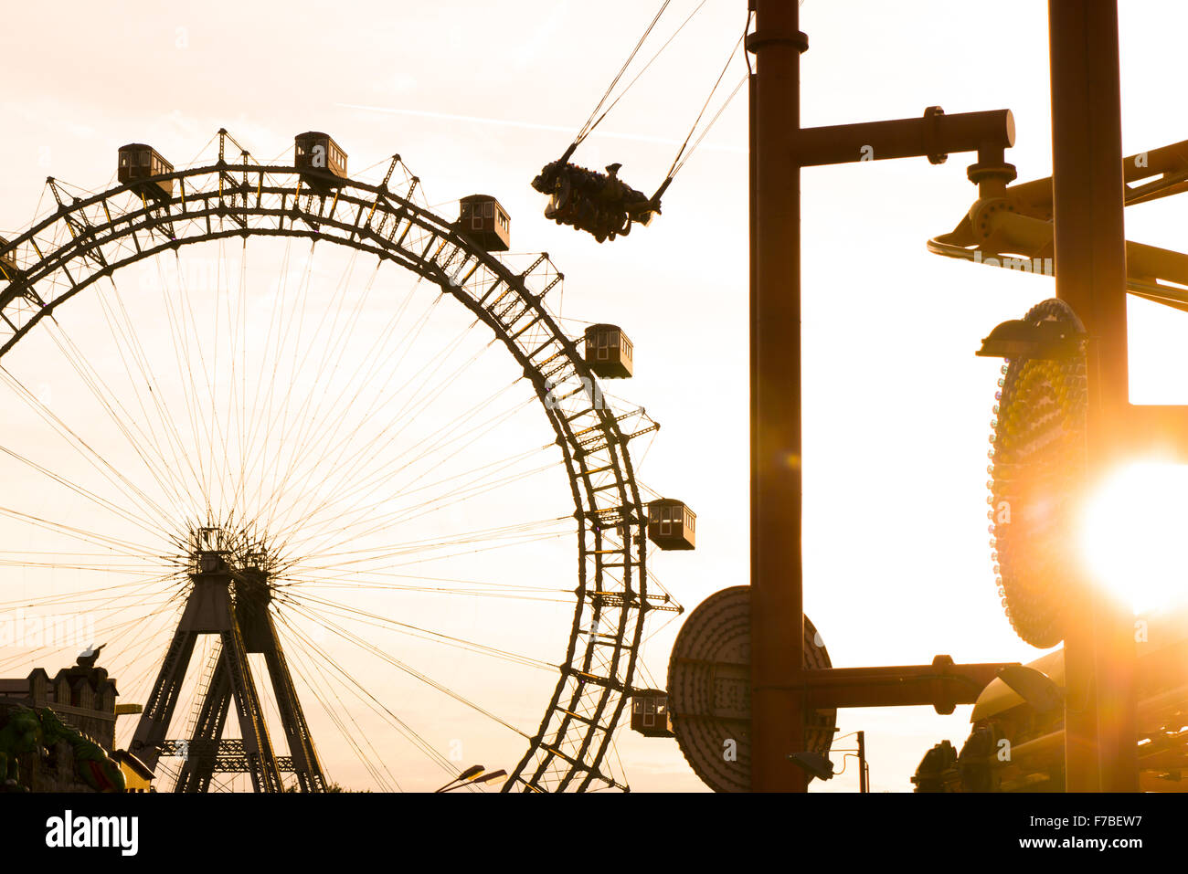 Prater, Riesenrad, Giant Ferry Wheel, Vienna, Austria, 2. district - Stock Image