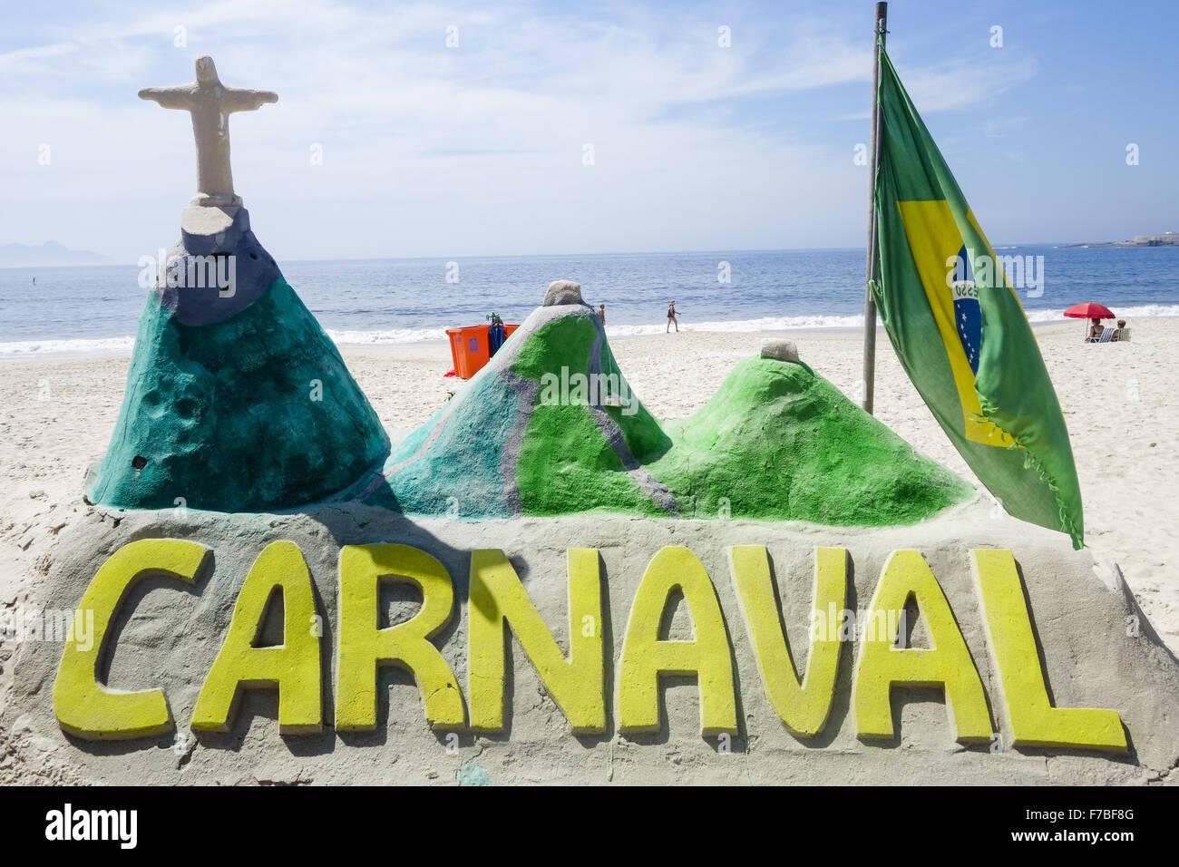 Rio de Janeiro, Copacabana, Carnaval 2014, Brazil Stock Photo