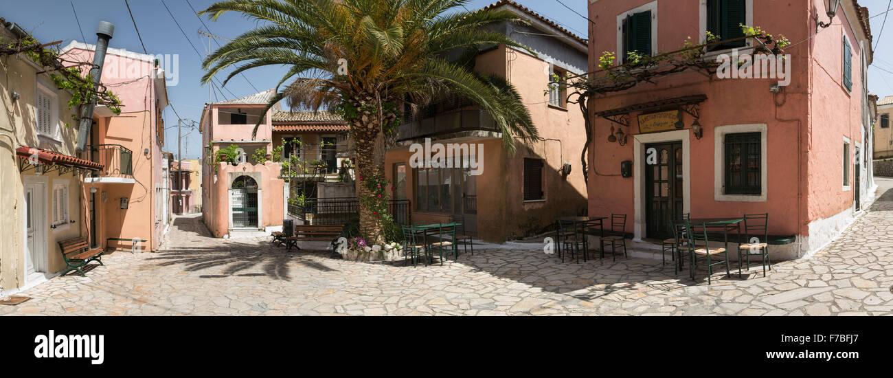 Quaint Greek village of Sokraki, Corfu, Greece Stock Photo
