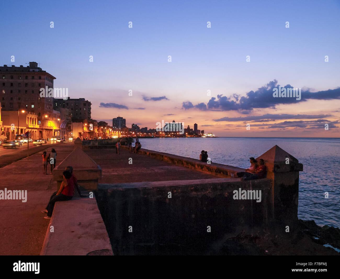 Malecon, Havana, Cuba, Havanna Stock Photo