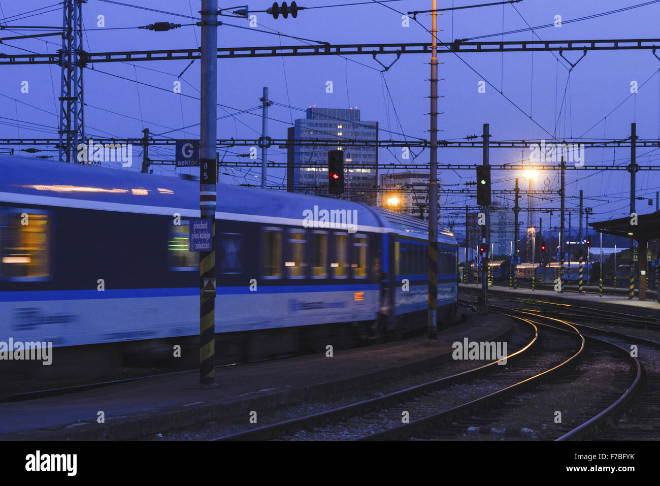 Brno, railway station, Czech Republic, Southern Morava - Stock Image