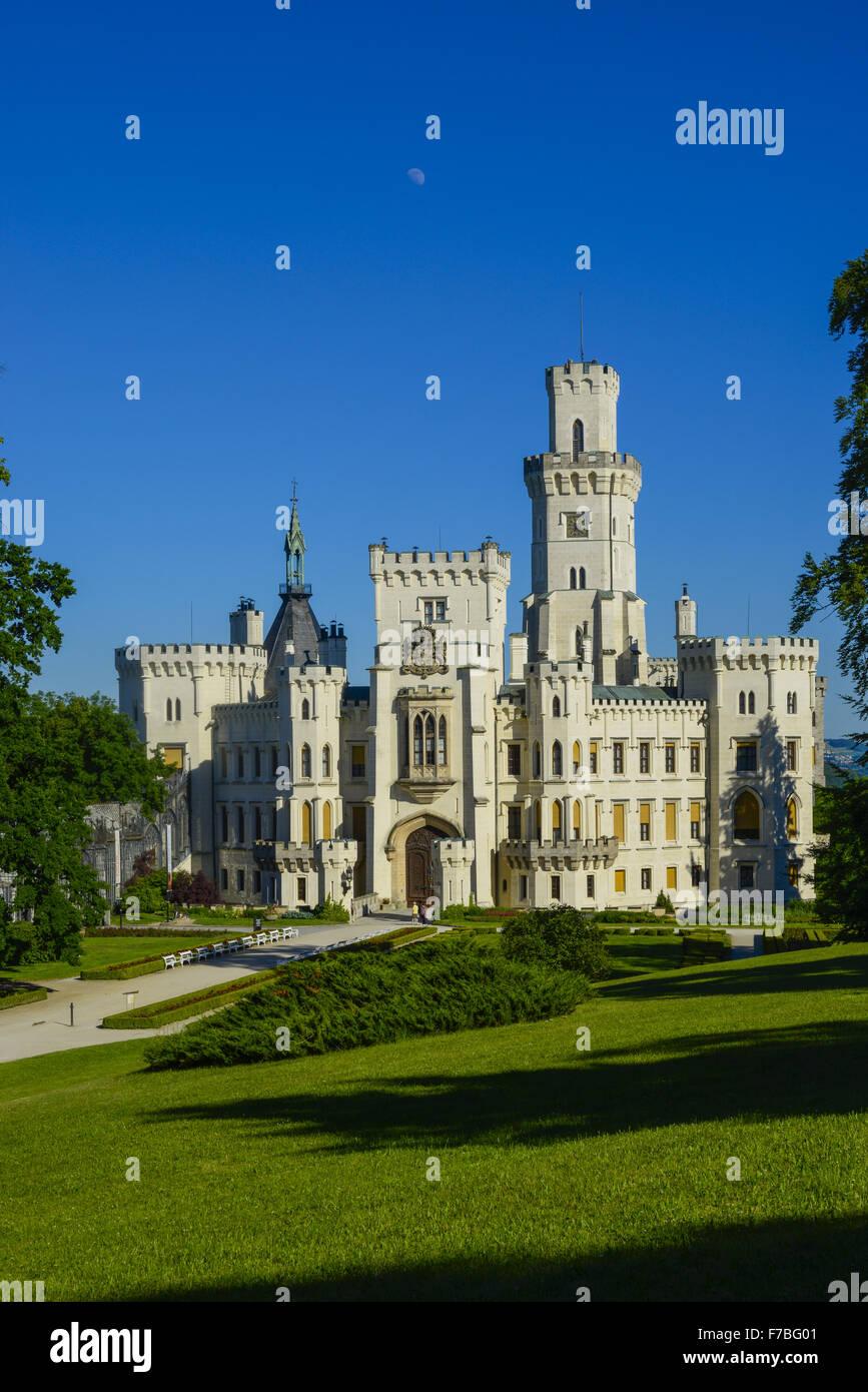 Castle Hluboka nad Vltavou, Frauenberg, Czech Republic, Southern Bohemia, Hluboca Stock Photo