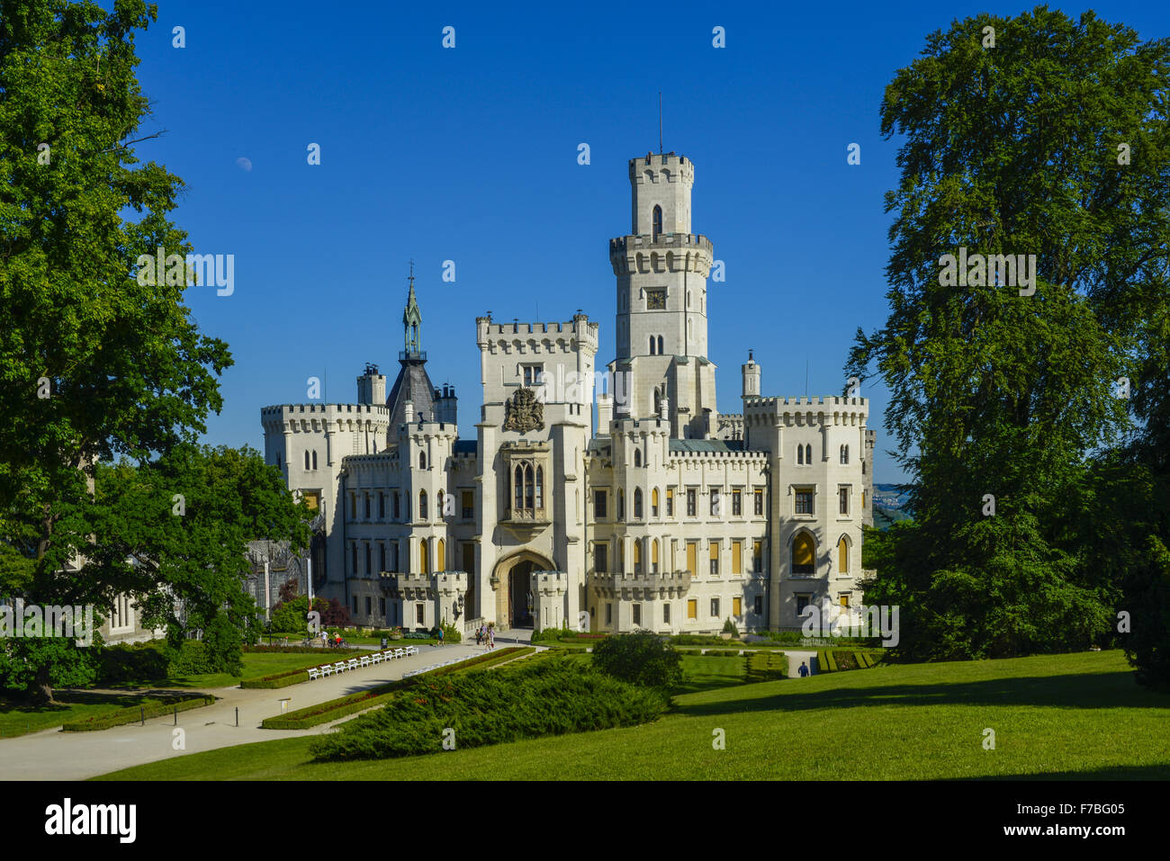 Castle Hluboka nad Vltavou, Frauenberg, Czech Republic, Southern Bohemia, Hluboca Stock Photo