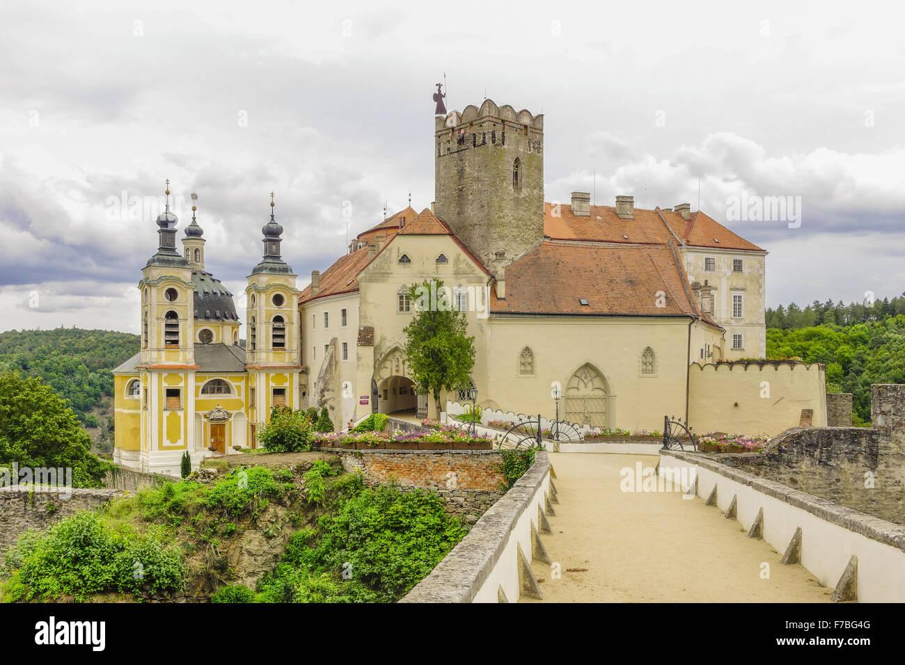 Castle Vranov, Okres Znojmo, Southern Moravia, Czech Republic, Vranov - Stock Image