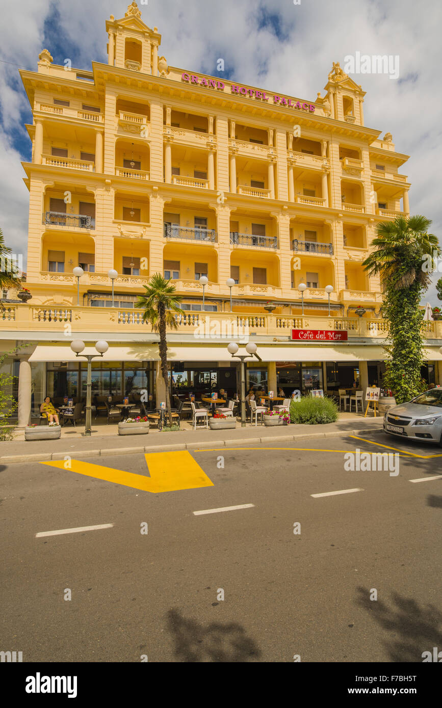 Croatia, Istria, Opatija, Grand Hotel Palace - Stock Image