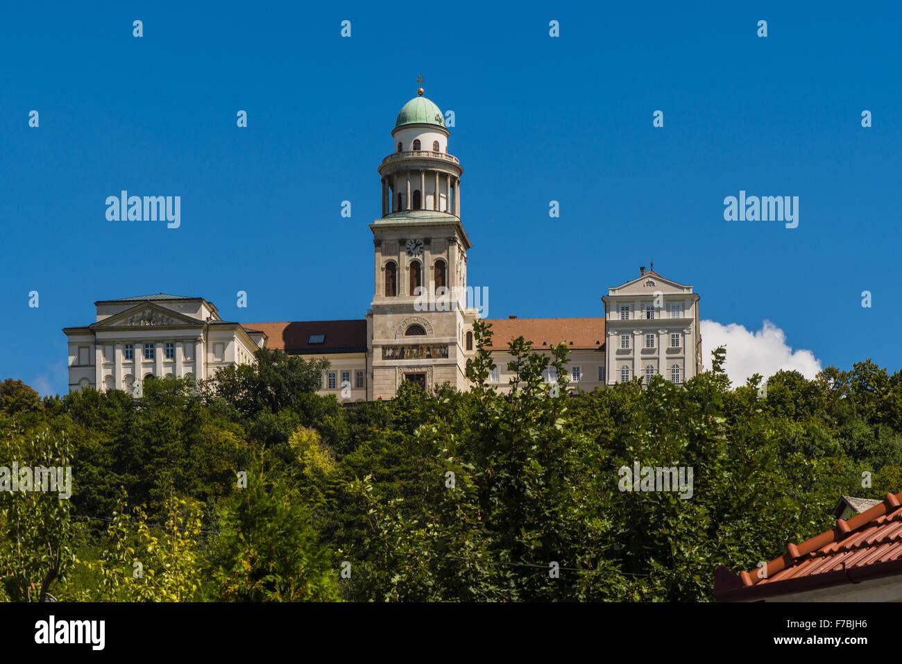 Pannonhalma, monastery on Martins hill, Hungary, Western Hungary - Stock Image