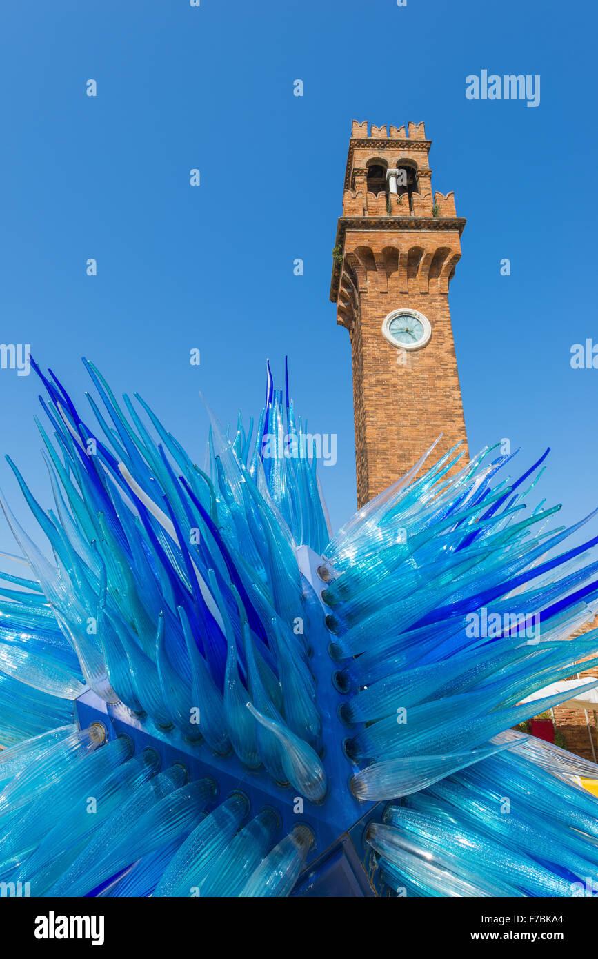 Simone Cenedese, open air glass installation, Murano, glass island, Venedig, Venice, Venetia, Italy - Stock Image