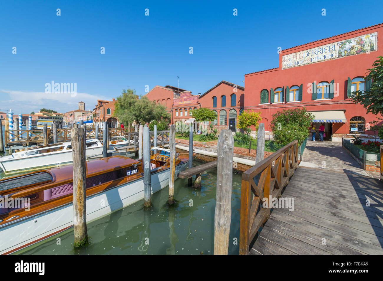 Murano, glass island, Venedig, Venice, Venetia, Italy - Stock Image