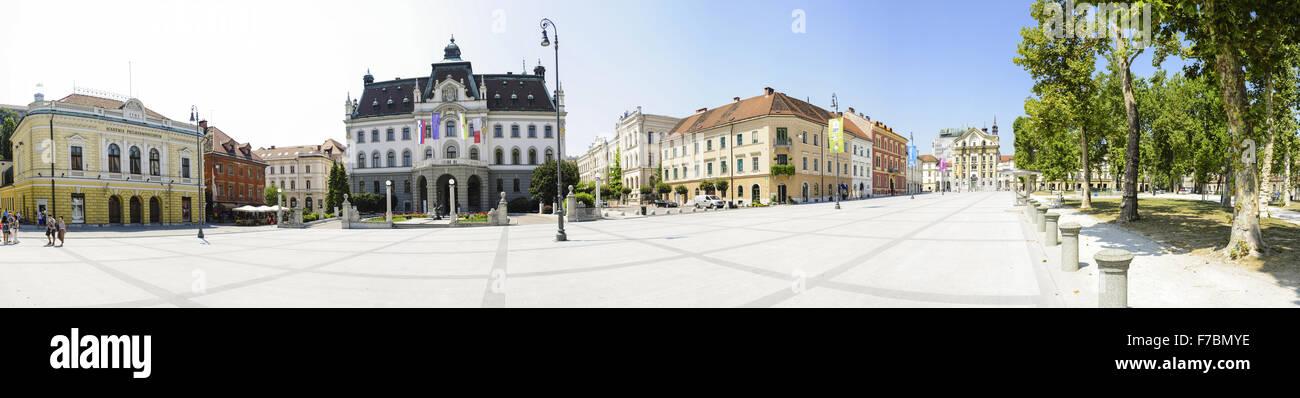 Ljubljana, old town, Slovenia - Stock Image