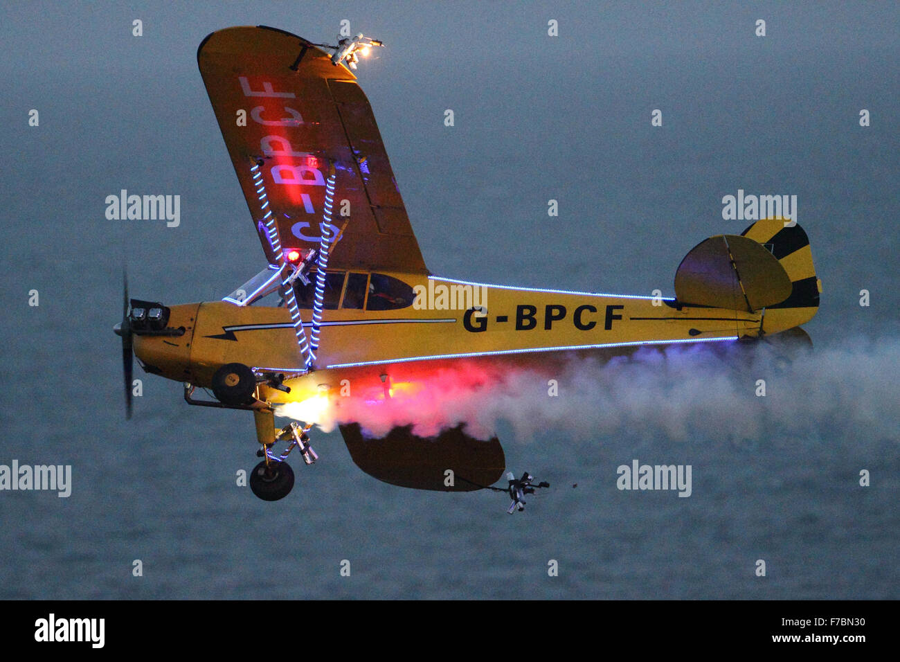 Brendan O'Brien's Flying Circus at the Bournemouth Air Festival 2014 - Stock Image