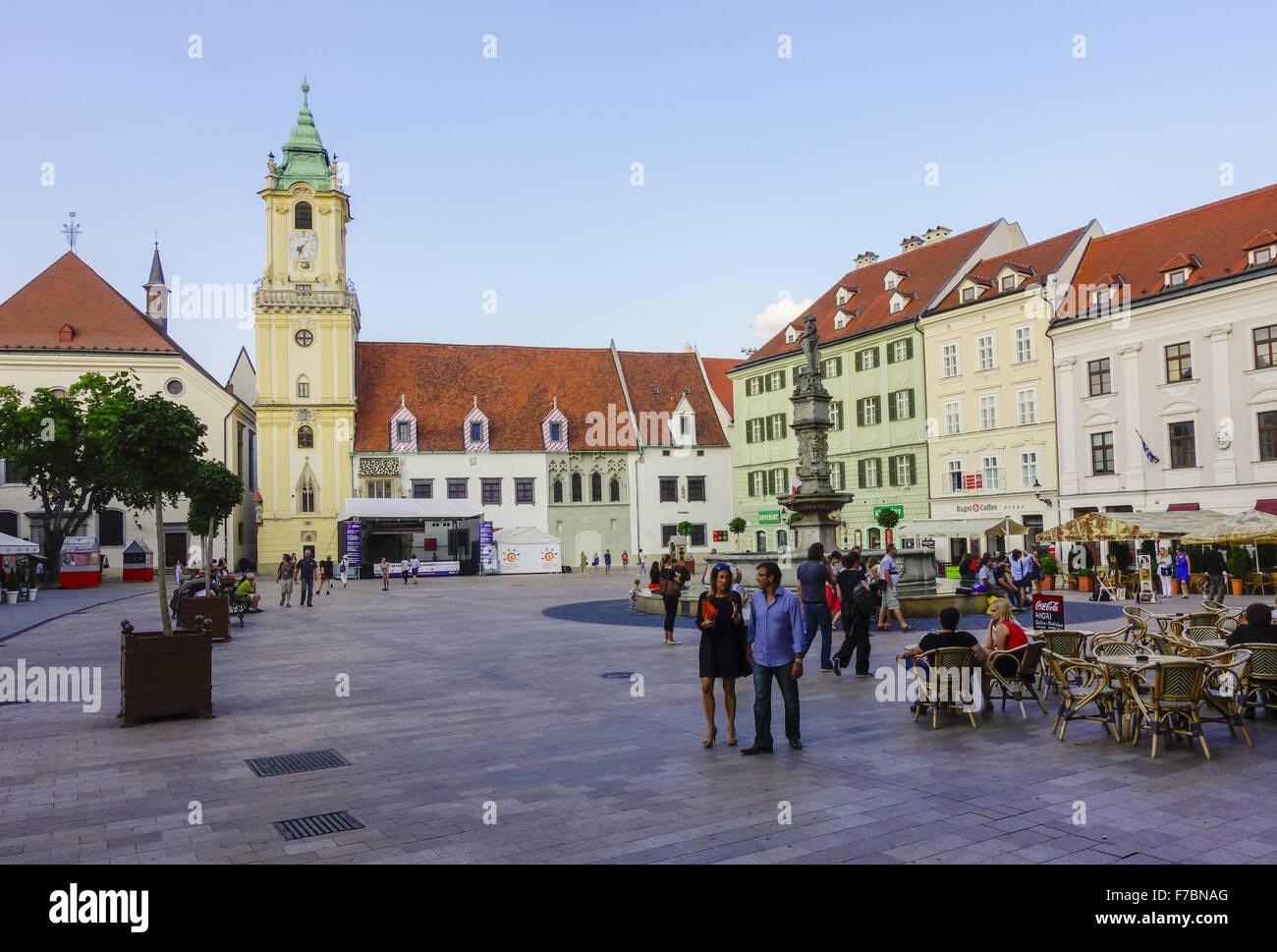 Slovakia, Bratislava, Pressburg, capital city, old town, city center - Stock Image