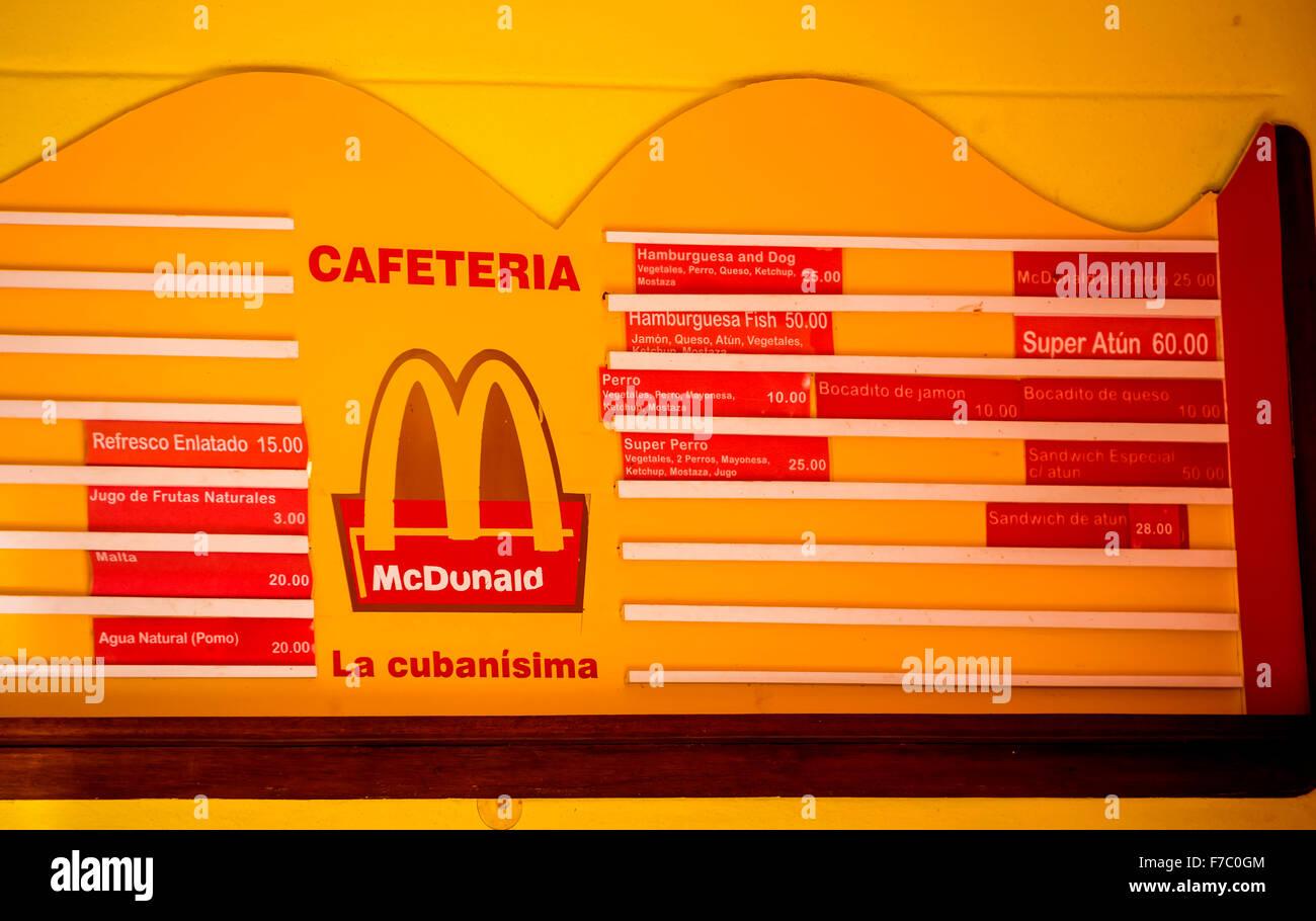 Cuban mcdonald fast food restaurant mcdunald price list cuban mcdonald fast food restaurant mcdunald price list streetlife in the center of santa clara at parque de santa clara altavistaventures Images