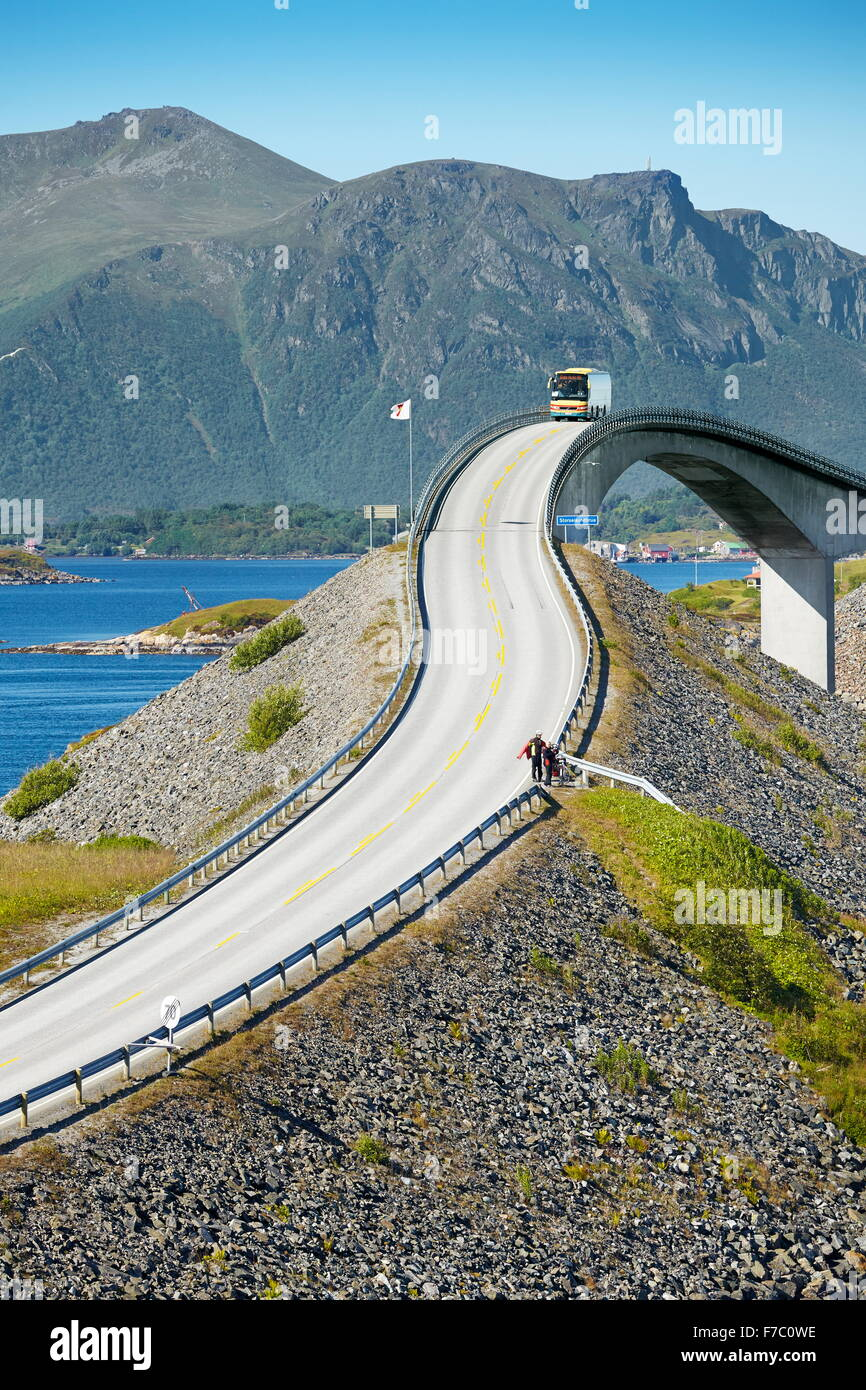 The Atlantic Road More og Romsdal, Norway - Stock Image