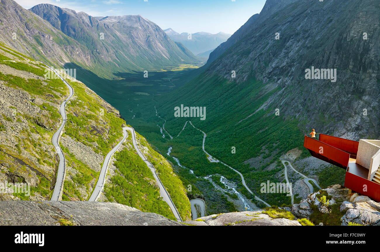 Trollstigen (Trolls Ladder or Trolls Causeway), Norway Stock Photo