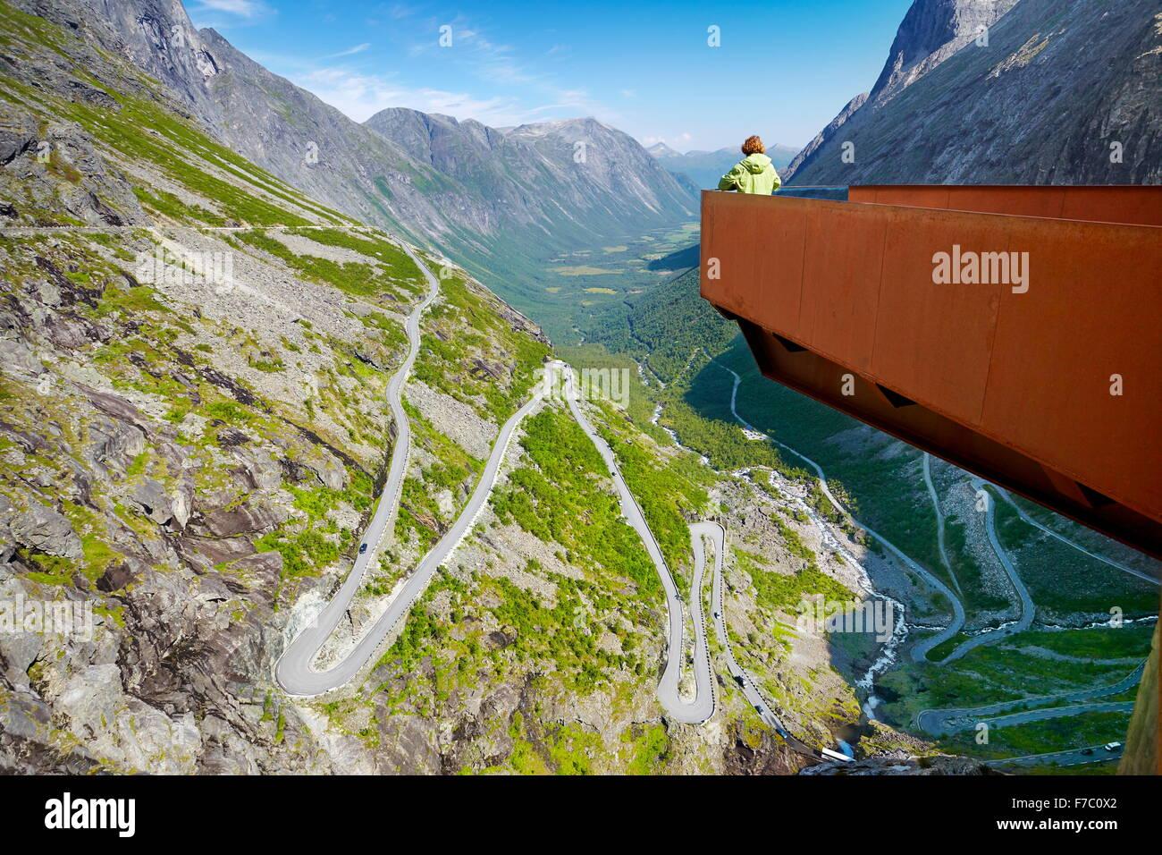 Trollstigen near Andalsness, Norway - Stock Image