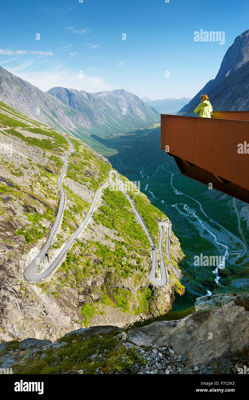 Trollstigen high mountain road, Norway - Stock Image