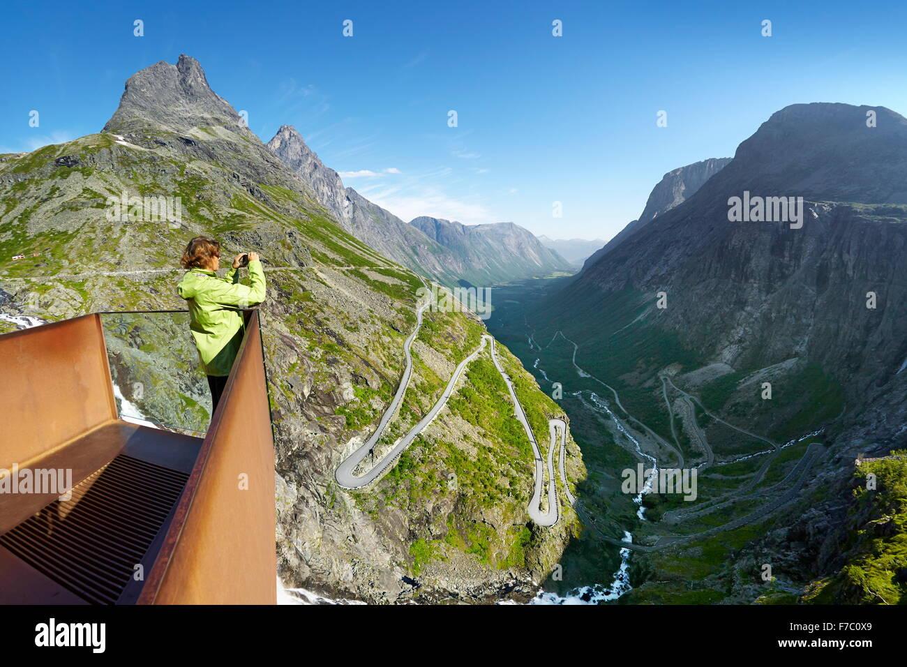Trollstigen mountain road, Norway - Stock Image
