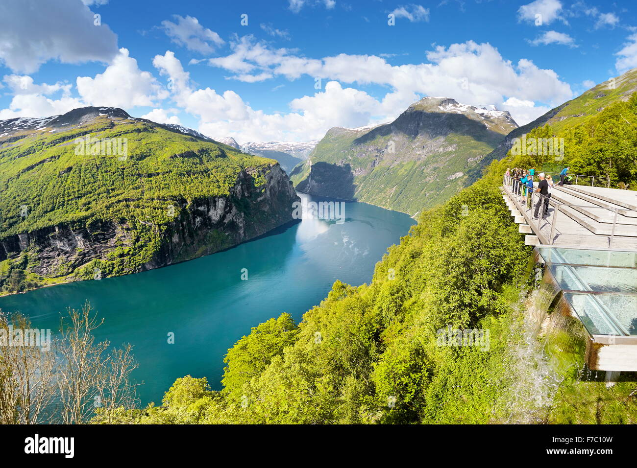 Norway Fjord Geiranger - Stock Image