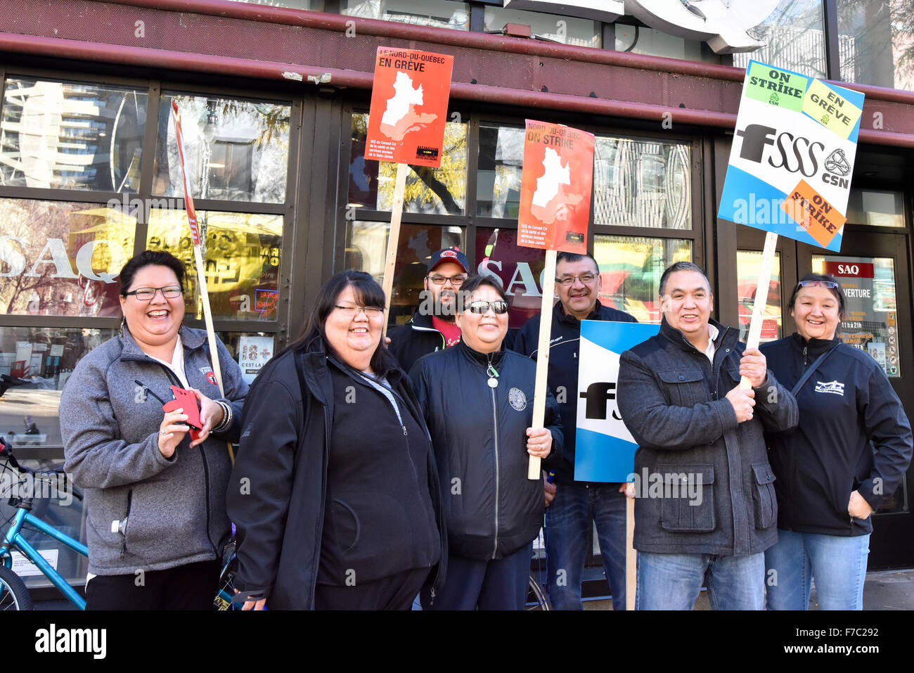 CSN Confederation of National Trade Unions Canada , Strike Montreal - Stock Image
