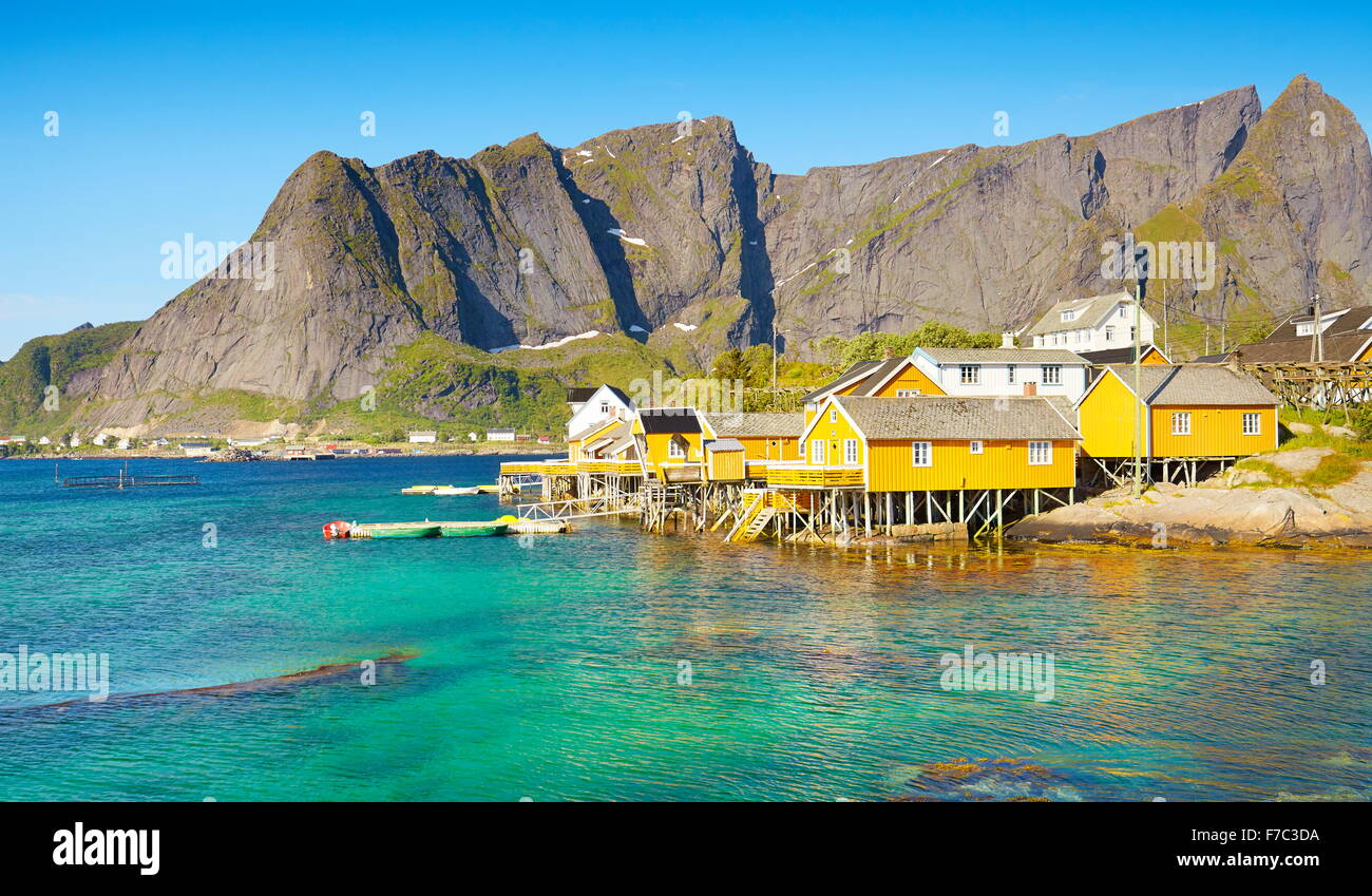 Lofoten Islands, Moskenes, Norway - Stock Image
