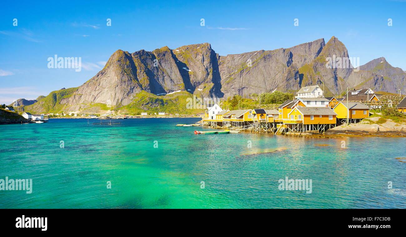 Lofoten Islands landscape, Moskenes, Norway - Stock Image