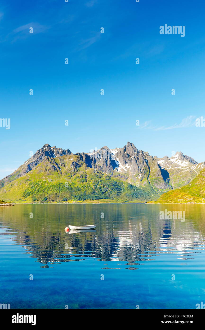 Austnesfjord, Lofoten Islands, Norway - Stock Image