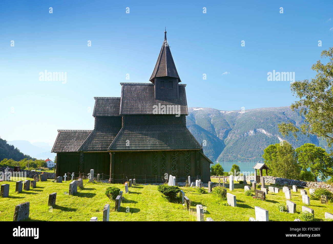 Urnes Stave Church, Unesco, Norway - Stock Image