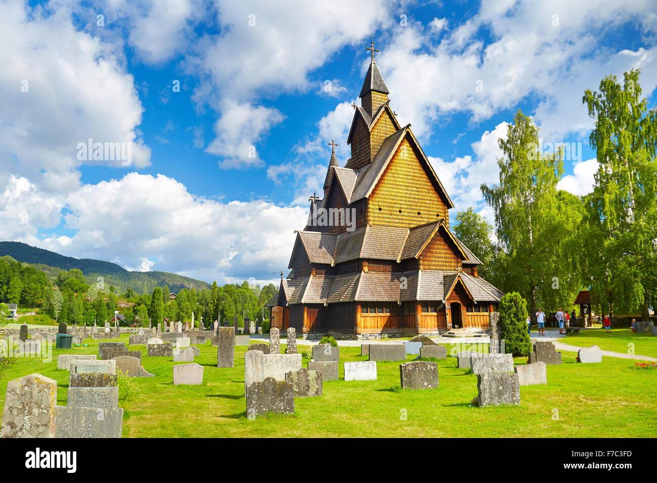 Stave Church Heddal, Sogn og Fjordane, Norway - Stock Image