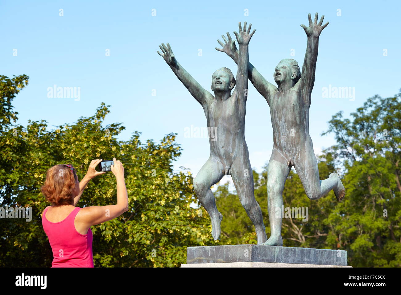 Gustav Vigeland Sculpture Park, Oslo, Norway - Stock Image