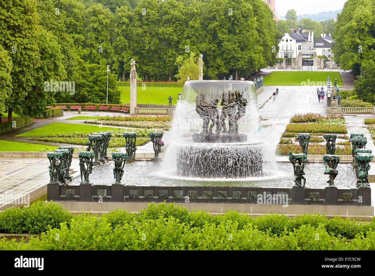 Vigeland Sculpture Park, Vigelandsparken, Oslo, Norway - Stock Image