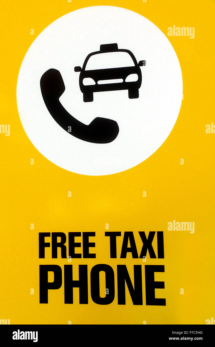 Free Taxi Phone Signs And Symbols Stock Photo 90622268 Alamy