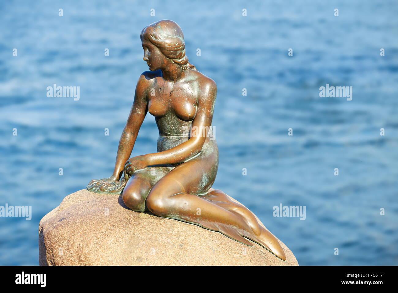 The Little Mermaid Statue, Copenhagen, Denmark - Stock Image