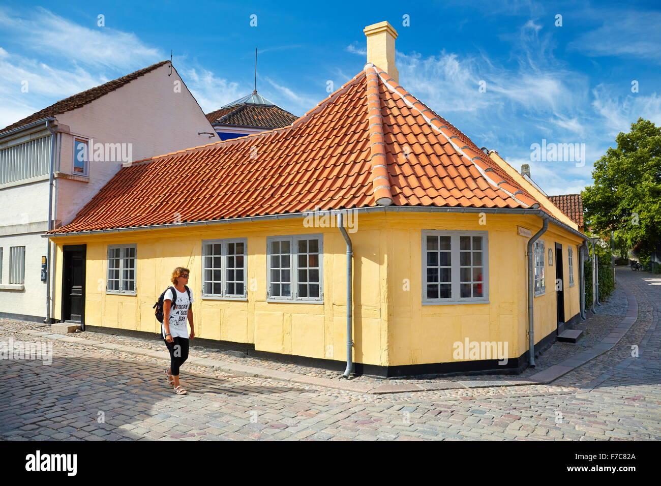 Hans Christian Andersen's home in Odense, Denmark - Stock Image