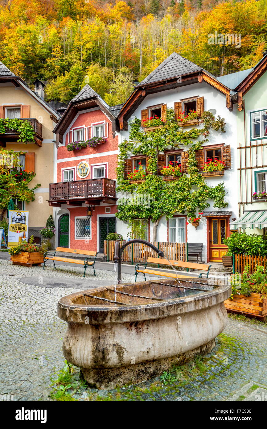 Hallstatt village, Salzkammergut, Austria - Stock Image