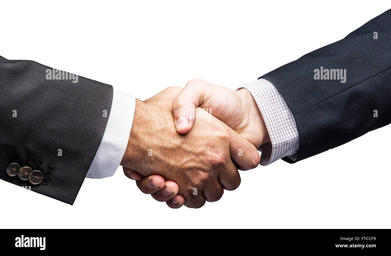 Handshake. Closeup shot of hands. File contains clipping paths. - Stock Image