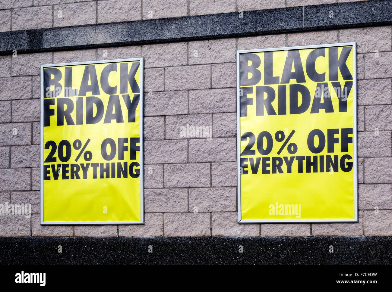 Black Friday advertising posters - Stock Image