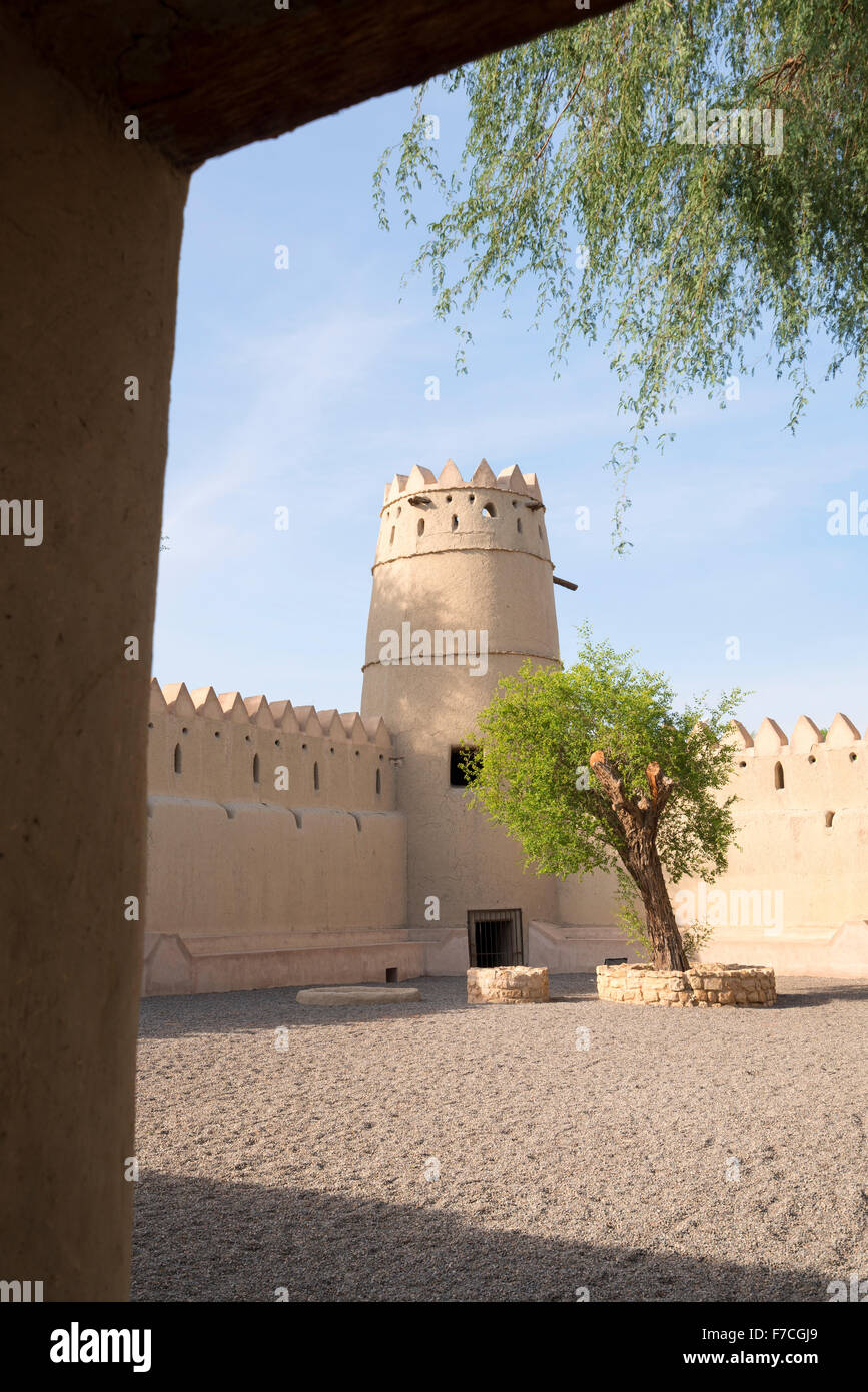 Sultan Bin Zayed Fort beside National Museum at Al Ain United Arab Emirates - Stock Image