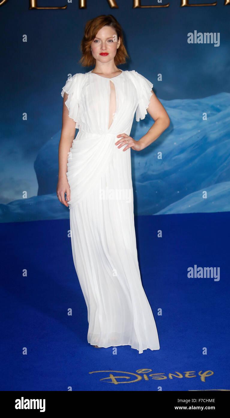 Mar 19, 2015 - London, England, UK - Holliday Grainger attending Cinderella UK Premiere, Odeon, Leicester Square - Stock Image