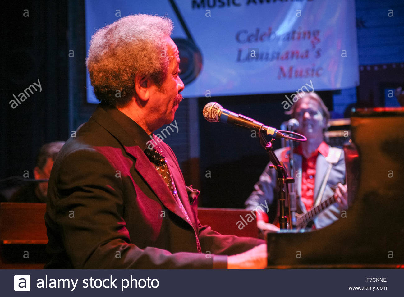 Musician Allen Toussaint, performing at the House of Blues on January 27, 2007 in New Orleans, Louisiana, USA - Stock Image