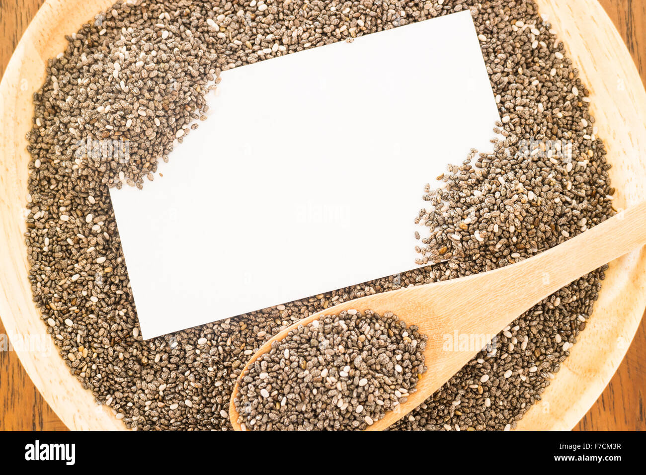Nutritious chia seeds and business card stock photo stock photo nutritious chia seeds and business card stock photo colourmoves