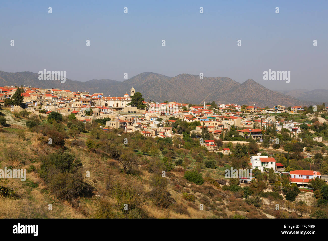 Pano Lefkara village, Troodos, Cyprus. - Stock Image