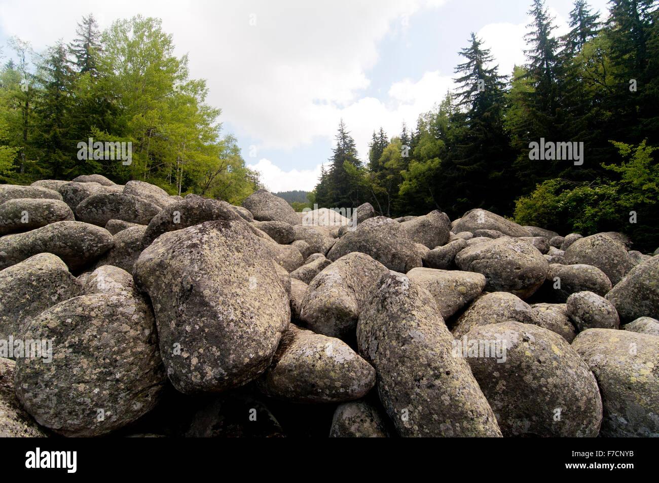 Huge Granite Stone : Stone river big granite stones on rocky vitosha